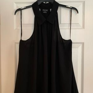 City chic Black t strap tank top blouse